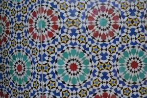 Ceramic tile wall (Fes)