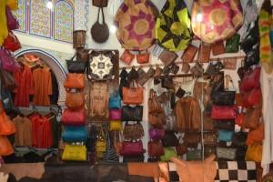 Leather shop in medina kadeema (Fes)