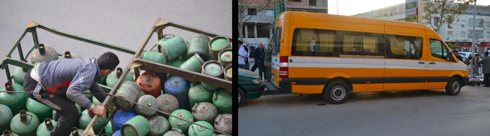 Moroccan propane and bus